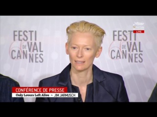 Only Lovers Left Alive Cannes Press Conference - Tom Hiddleston, Tilda Swinton, John Hurt and Jim Jarmusch  (⚜ HiddlesNews